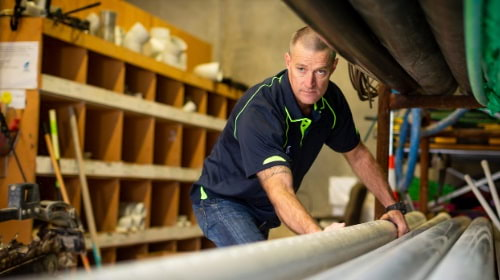 Tauranga plumber doing maintenance