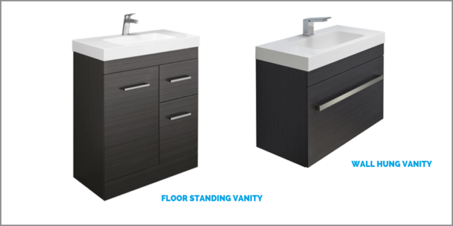 Different styles of bathroom vanity