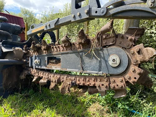 trencher digging